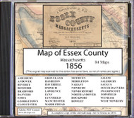 A Topographical Map of Essex County, Massachusetts, 1856, CDROM Old Map
