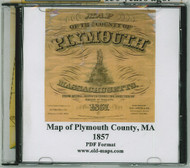 Map of the County of Plymouth, Massachusetts, 1857, CDROM Old Map