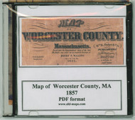Map of Worcester County, Massachusetts, 1857, CDROM Old Map