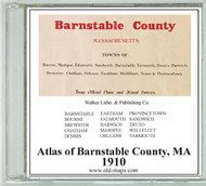 Atlas of Barnstable County, Massachusetts, 1910, CDROM Old Map