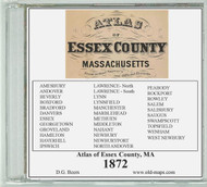 Beers Atlas of Essex County, Massachusetts, 1872, CDROM Old Map