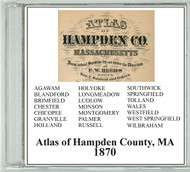 Beers Atlas of Hampden County, Massachusetts, 1870, CDROM Old Map