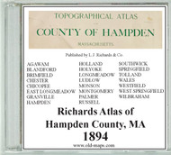 Richards Atlas of Hampden County, Massachusetts, 1894, CDROM Old Map