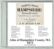 Beers Atlas of Hampshire County, Massachusetts, 1873, CDROM Old Map