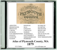 Walker Atlas of Plymouth County, Massachusetts, 1879, CDROM Old Map