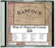 Map of Hancock County, Maine, 1860, CDROM Old Map