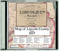 Map of Lincoln County, Maine, 1857, CDROM Old Map