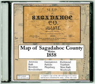 Map of Sagadahoc County, Maine, 1858, CDROM Old Map