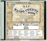Map of Waldo County, Maine, 1859, CDROM Old Map