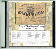 Map of Washington County, Maine, 1861, CDROM Old Map