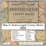 Map of Androscoggin County, Maine, 1858, CDROM Old Map