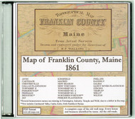Map of Franklin County, Maine, 1861, CDROM Old Map