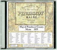 Map of Penobscot County, Maine, 1859, CDROM Old Map