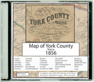 Map of York County, Maine, 1856, CDROM Old Map