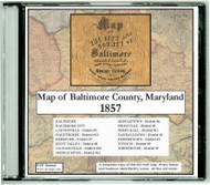 Map of the City and County of Baltimore, Maryland, 1857, CDROM Old Map