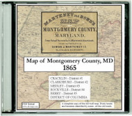 Martenet and Bond's Map of Mongomery County, Maryland, 1865, CDROM Old Map