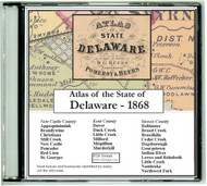 Atlas of the State of Delaware, 1868, CDROM Old Map