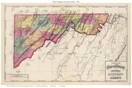 Allegheny & Garrett Counties, Maryland 1873 - Old County Map Reprint - 1873 State Atlas