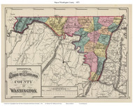 Washington Counties, Maryland 1873 - Old County Map Reprint - 1873 State Atlas