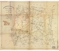 Abbeville District, 1825 South Carolina - Old Map Reprint - Mills Atlas LC