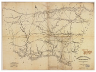 Barnwell District, 1825 South Carolina - Old Map Reprint - Mills Atlas LC