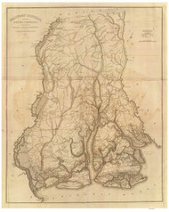 Beaufort District, 1825 South Carolina - Old Map Reprint - Mills Atlas RSY