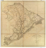 Charleston District, 1825 South Carolina - Old Map Reprint - Mills Atlas RSY
