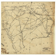 Chesterfield District, 1825 South Carolina - Old Map Reprint - Mills Atlas LC