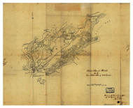 Christ Church District, 1825 South Carolina - Old Map Reprint - Mills Atlas LC