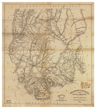 Colleton District, 1825 South Carolina - Old Map Reprint - Mills Atlas LC