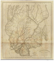 Colleton District, 1825 South Carolina - Old Map Reprint - Mills Atlas RSY
