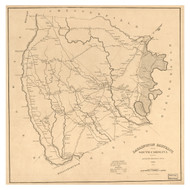 Darlington District, 1825 South Carolina - Old Map Reprint - Mills Atlas LC