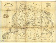 Edgefield District, 1825 South Carolina - Old Map Reprint - Mills Atlas LC