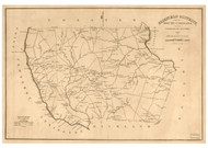Fairfield District, 1825 South Carolina - Old Map Reprint - Mills Atlas LC