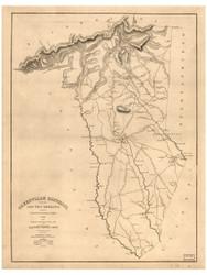 Greenville District, 1825 South Carolina - Old Map Reprint - Mills Atlas LC