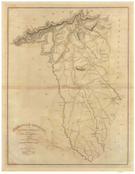 Greenville District, 1825 South Carolina - Old Map Reprint - Mills Atlas RSY