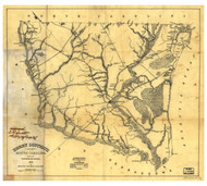 Horry District, 1825 South Carolina - Old Map Reprint - Mills Atlas LC