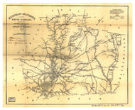 Kershaw District, 1825 South Carolina - Old Map Reprint - Mills Atlas LC