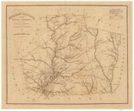 Kershaw District, 1825 South Carolina - Old Map Reprint - Mills Atlas RSY