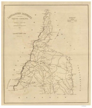 Lancaster District, 1825 South Carolina - Old Map Reprint - Mills Atlas RSY