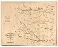 Laurens District, 1825 South Carolina - Old Map Reprint - Mills Atlas LC