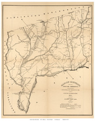 Marion District, 1825 South Carolina - Old Map Reprint - Mills Atlas LC