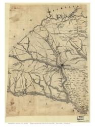 Orangeburg District, 1825 South Carolina - Old Map Reprint - Mills Atlas LC