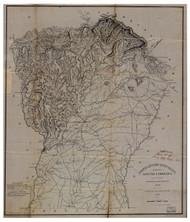 Pendleton District, 1825 South Carolina - Old Map Reprint - Mills Atlas LC