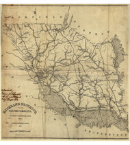 Richland District, 1825 South Carolina - Old Map Reprint - Mills Atlas LC