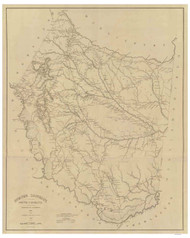 Sumter District, 1825 South Carolina - Old Map Reprint - Mills Atlas RSY