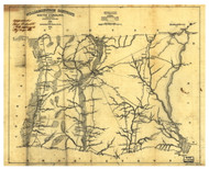 Williamsburgh District, 1825 South Carolina - Old Map Reprint - Mills Atlas LC