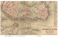 Portland, Downtown 1884 Colby - Old Map Custom Print - Maine Cities Other