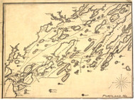 Portland ca 1900 Author Unknown - Old Map Reprint - Maine Cities Other