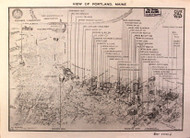 Portland 1911 Shaylor - Old Map Reprint - Maine Cities Other